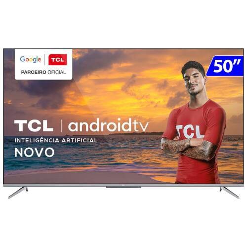 TV 50P TCL LED SMART 4K ANDROID COMANDO DE VOZ - 50P715