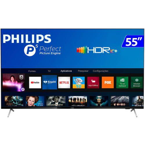TV 55P PHILIPS LED SMART 4K WIFI USB HDMI - 55PUG7625