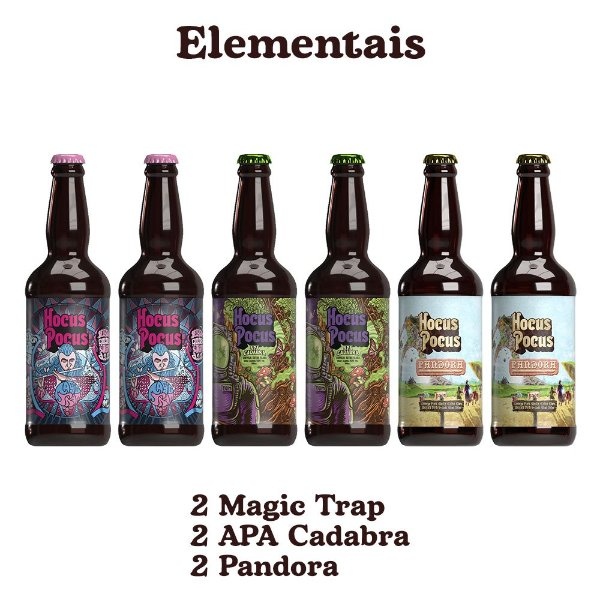 Pack Elementais - 6 unidades