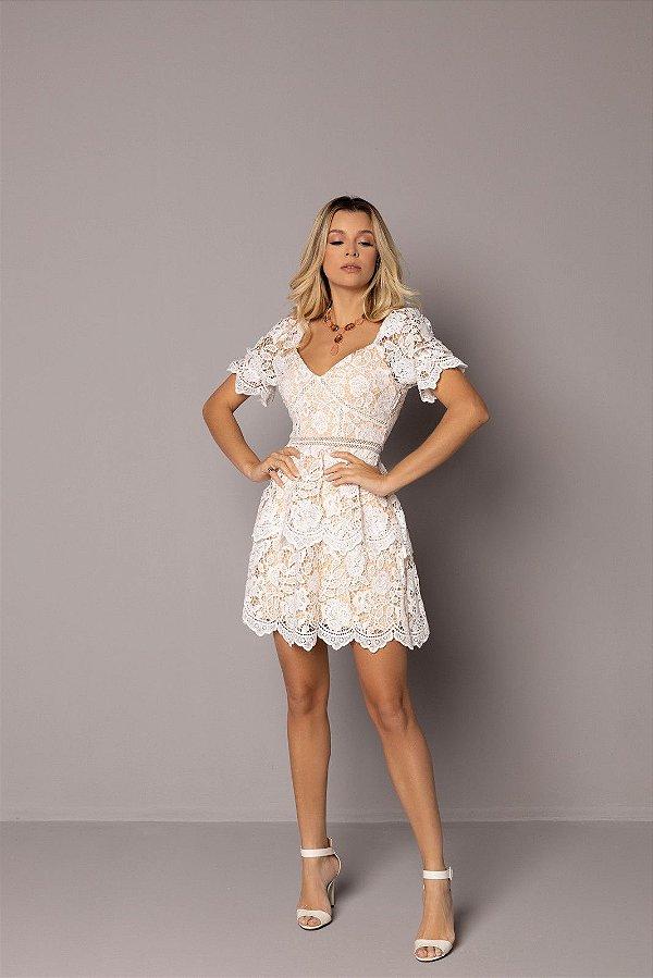 Vestido Zamar de Renda Branco
