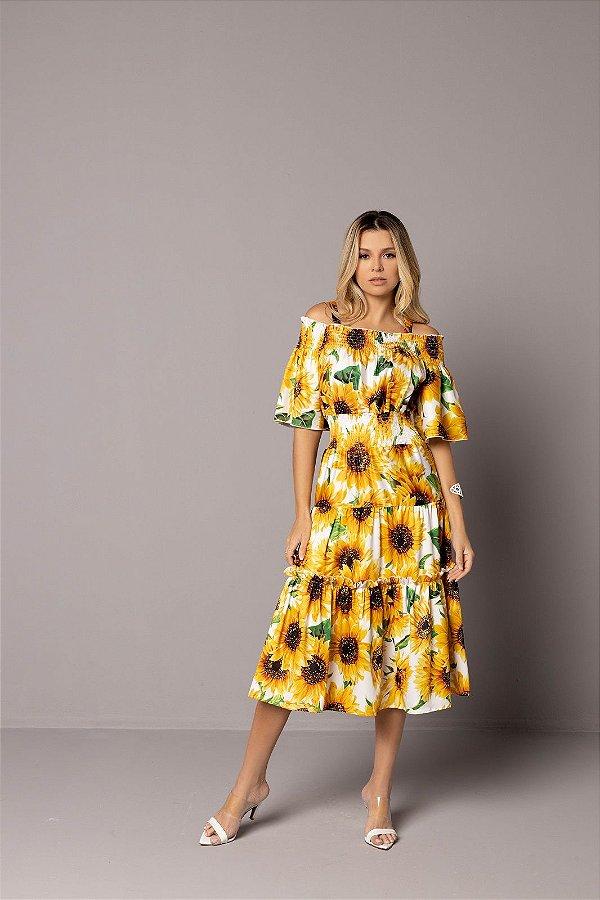 Vestido Zamar Rebeca Midi