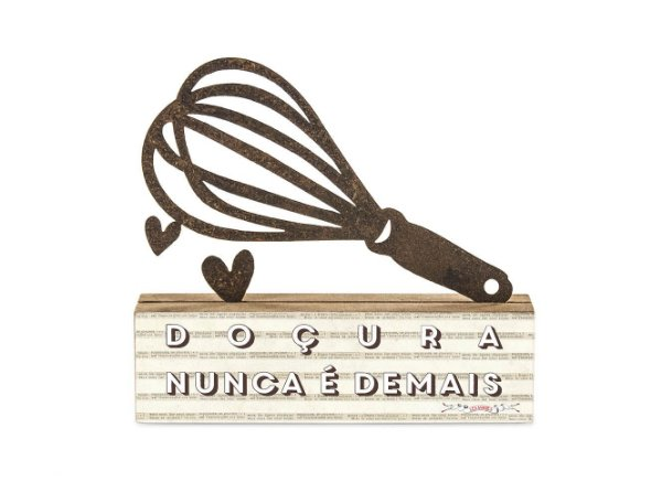 "ESCULTURA DE MESA FERRO FOUET ""DOÇURA..."""