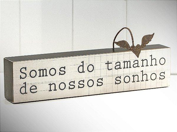 """BLOCO DE PALAVRAS ID """"SOMOS DO TAMANHO..."""""""