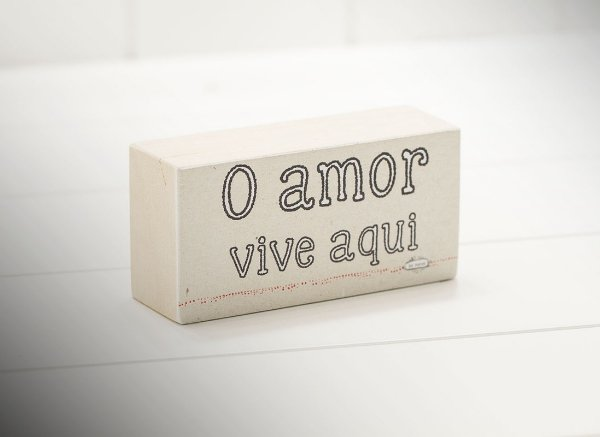 "MINI BLOCO MAD. CLARA ""O AMOR..."""