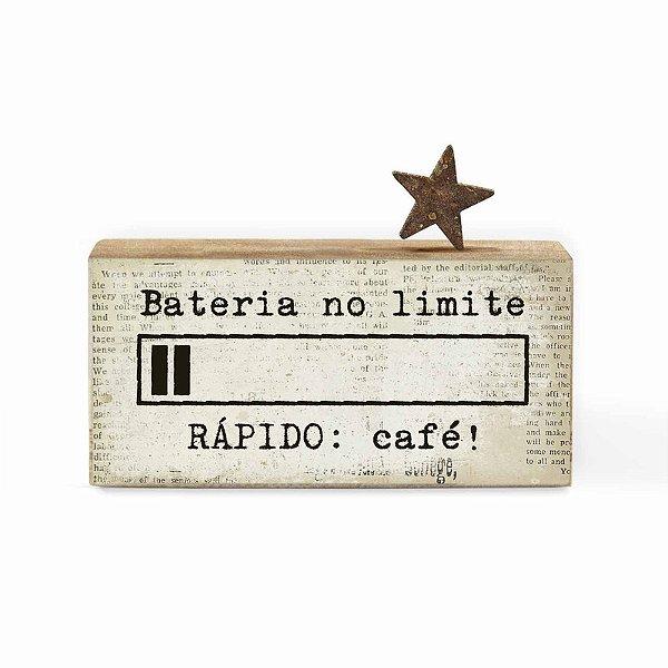 """BLOCO PALAVRAS ID MINI """"BATERIA NO LIMITE RAPIDO CAFE.."""""""