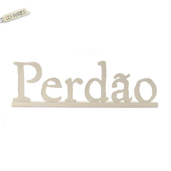 PALAVRA PERDÃO DE MESA CAQUI