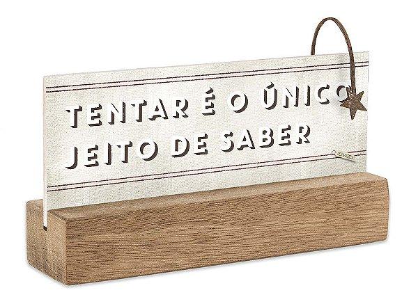 """BLOCO PLACA P """"TENTAR É O UNICO..."""""""