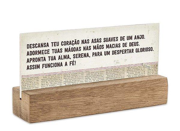 """BLOCO PLACA P """"DESCANSA TEU CORAÇÃO..."""""""