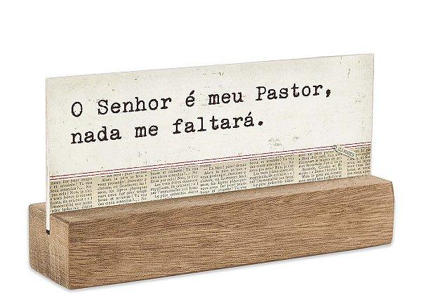 """BLOCO PLACA P """"O SENHOR É MEU..."""""""