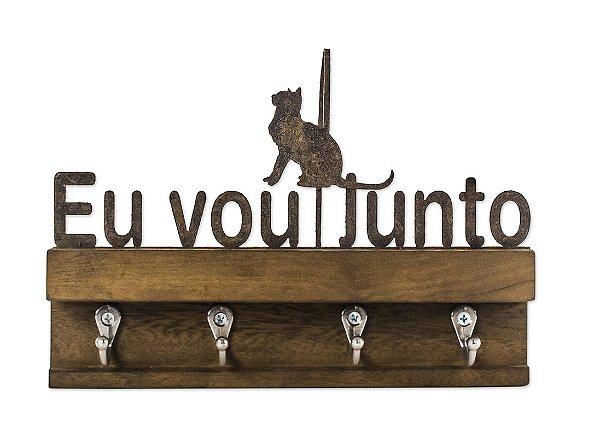 PORTA CHAVES FERRO MAD. M EU VOU JUNTO CAT