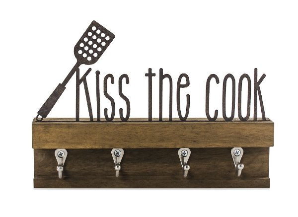 """PORTA CHAVES MAD. FERRO M """"KISS THE COOK"""""""