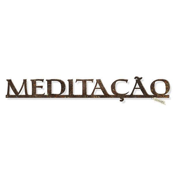 PALAVRA EM FERRO MEDITACAO