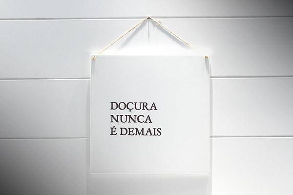 """QUADRO 20X20 """"DOÇURA NUNCA É DEMAIS"""""""