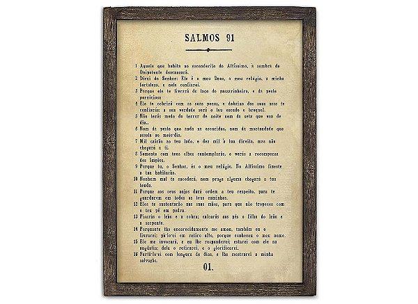 "QUADRO PAGINA BIBLIA G ""SALMOS 91"""