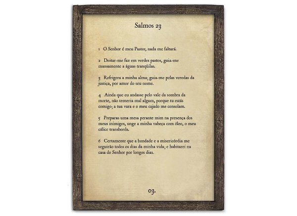 "QUADRO PAGINA BIBLIA G ""SALMOS 23..."""