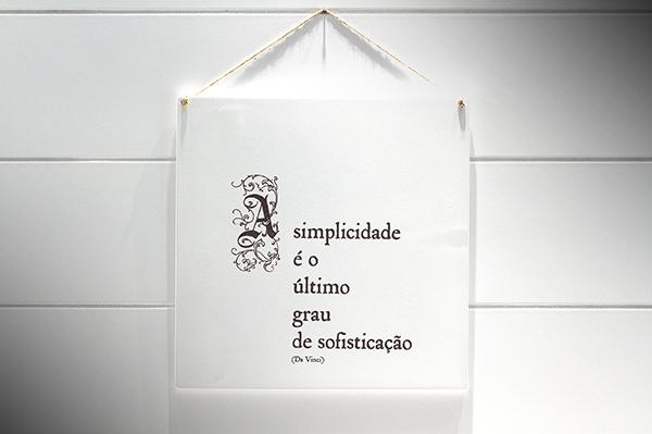 """QUADRO 20X20 """"A SIMPLICIDADE É ULTIMO..."""""""