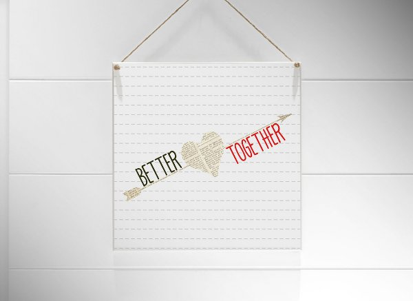 "QUADRO 20X20 ""BETTER TOGETHER..."""