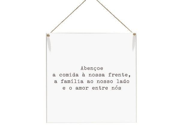 """QUADRO 20X20 """"ABENÇOE A COMIDA A NOSSA FAMILIA..."""""""