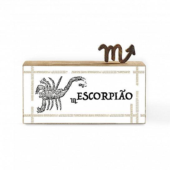 BLOCO DE MADEIRA MINI SIGNO ESCORPIÃO