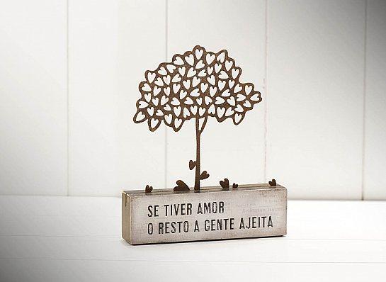 """BLOCO FERRO SILHUETA ARVORE """"SE TIVER..."""""""