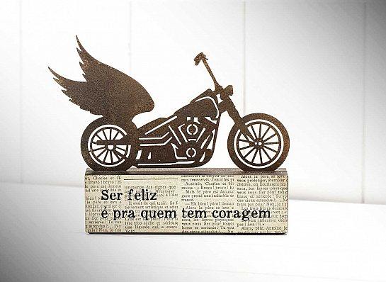 """ESCULTURA DE MESA MOTO """"SER FELIZ..."""""""