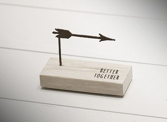 "MINI ESCULTURA DE MESA ""BETTER TOGETHER"""