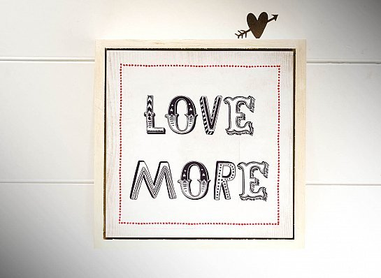 "QUADRO MAD.CLARA MOLD ALTA ""LOVE MORE..."""