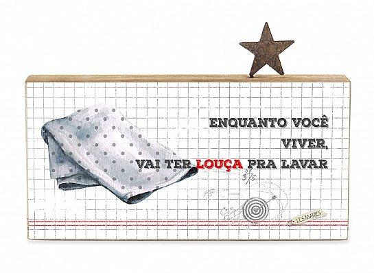 """BLOCO MADEIRA NATURAL """"ENQUANTO..."""""""