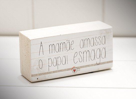 """MINI BLOCO MAD CLARA """"A MAMÃE AMASSA..."""""""