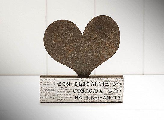 """BLOCO FERRO SILHUETA CORAÇÃO """"SEM..."""""""