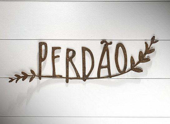 PALAVRA PERDÃO RAMO FERRO