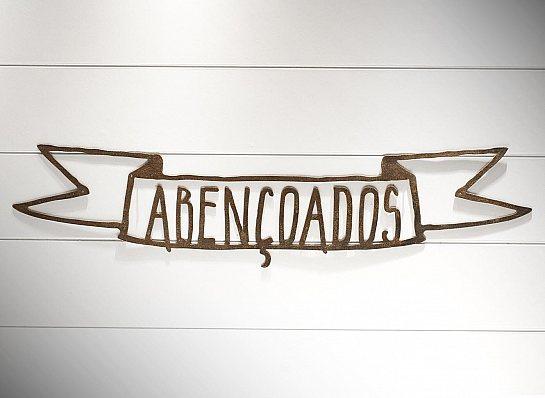 "BANNER FERRO ""ABENÇOADOS"" G"