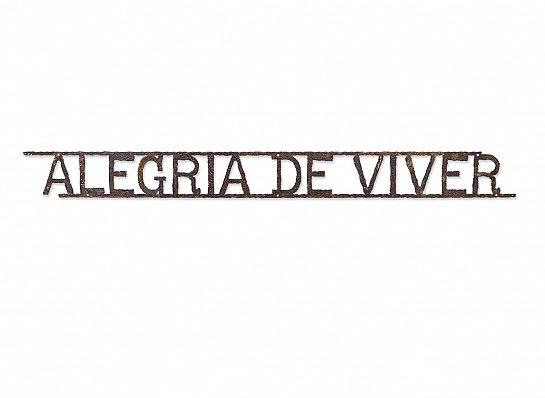 FRASE ALEGRIA DE VIVER FERRO LINHAS