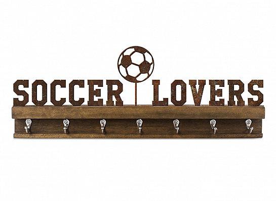"PORTA CHAVES/MEDALHAS FERRO MAD ""SOCCER LOVERS"""
