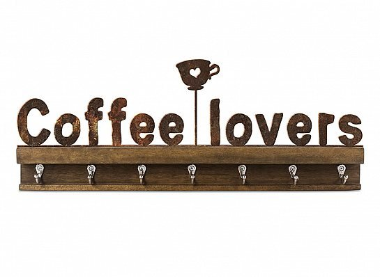 "GANCHO FERRO MADEIRA G ""COFFEE LOVERS"""