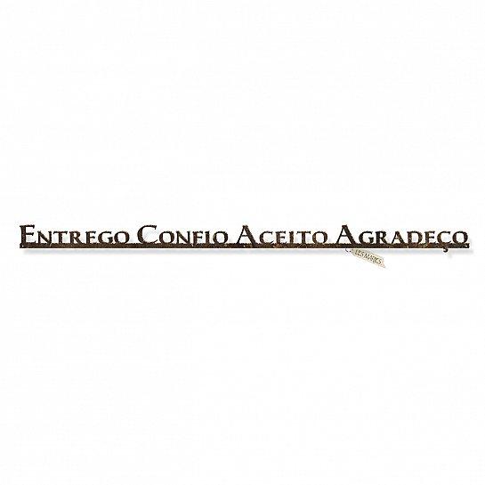 """FRASE DE PAREDE EM FERRO """"ENTREGO CONFIO..."""""""