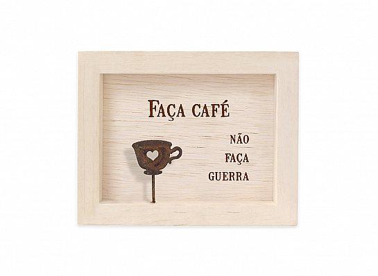 """QUADRO MINI MAD CLARA """"FAÇA CAFÉ..."""""""