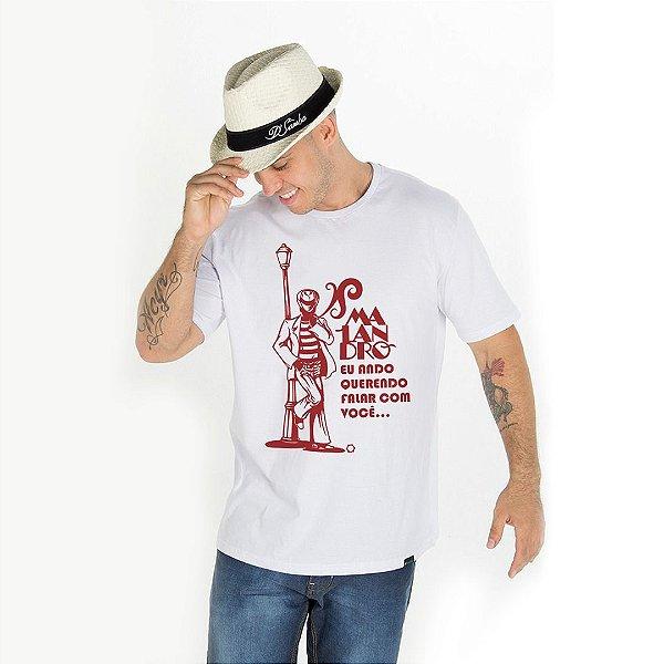 Camisa Masculina Malandro eu ando querendo falar com você D SAMBA