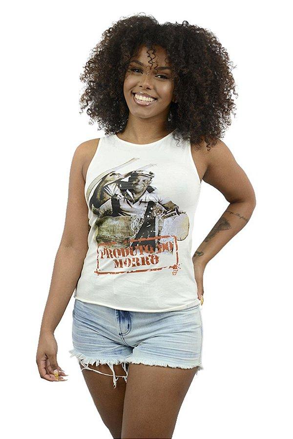 Blusa Feminina Recortada Produto do Morro D SAMBA