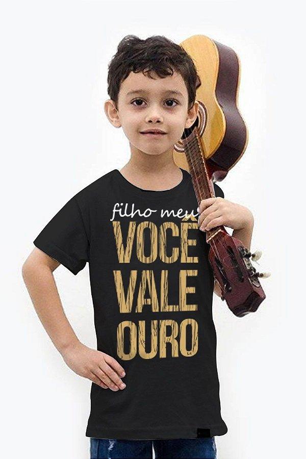 Camisa Infantil Filho Meu Você Vale Ouro D SAMBA
