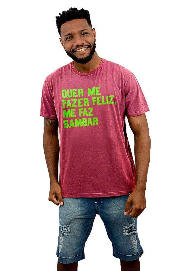 Camisa Masculina Quer me Fazer Feliz D SAMBA 21