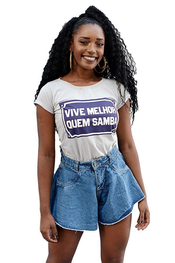 Blusa Feminina Vive Melhor Quem Samba D SAMBA 21