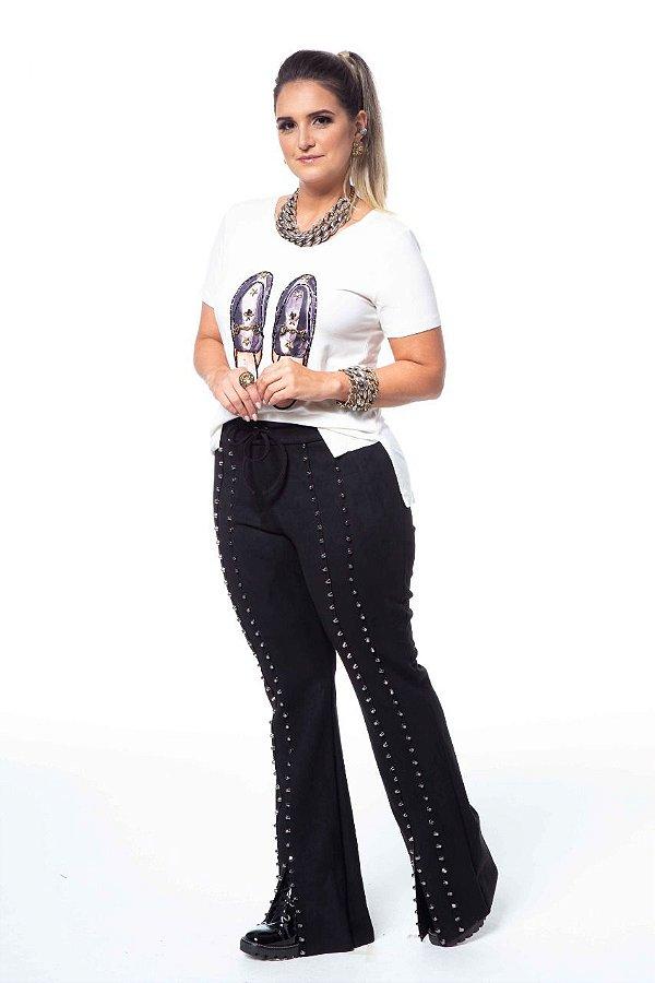 T-Shirt Patch Mule Gucci Bordado