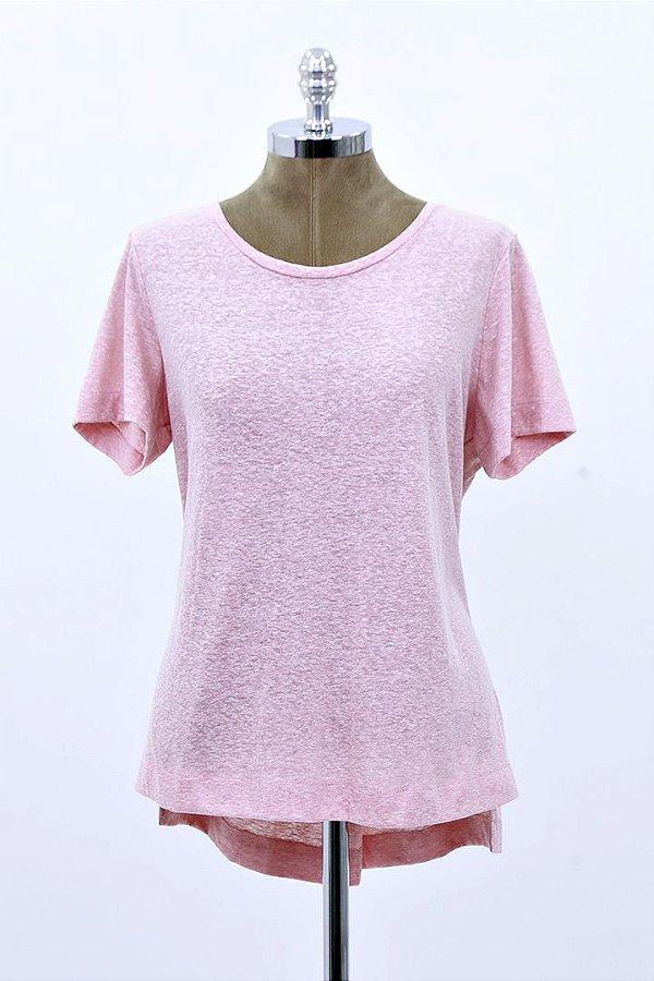 T-Shirt Podrinha Basic Rose