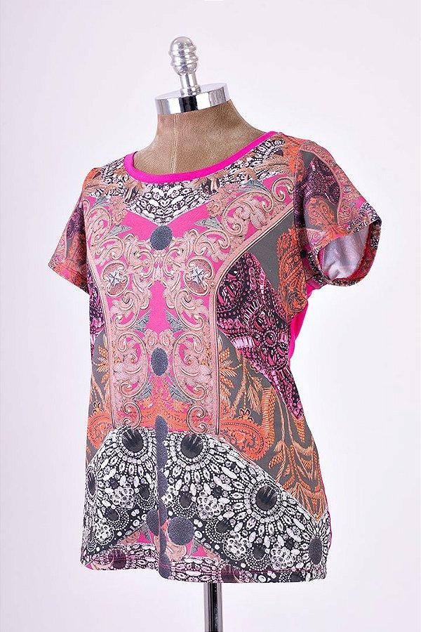 T-Shirt India Geométrica Básica