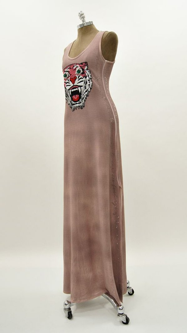 Vestido Longo Rose Tigre