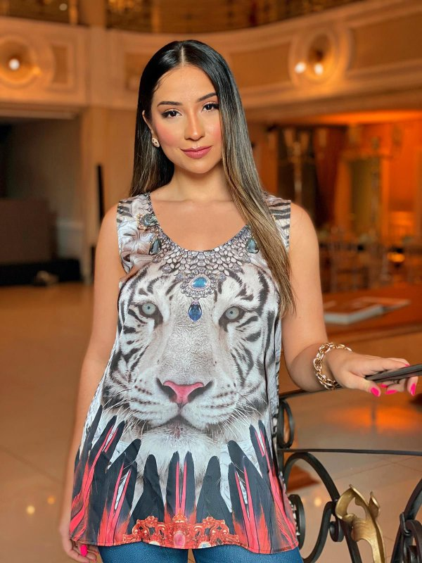 Regata Cetim Tigre Básica