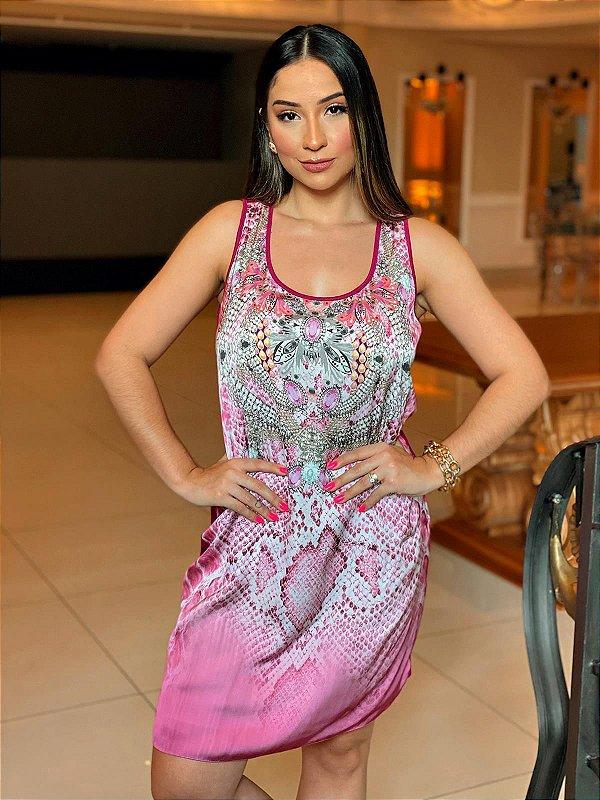 Vestido Regatão Degradê Básico - Coleção Essential Pink