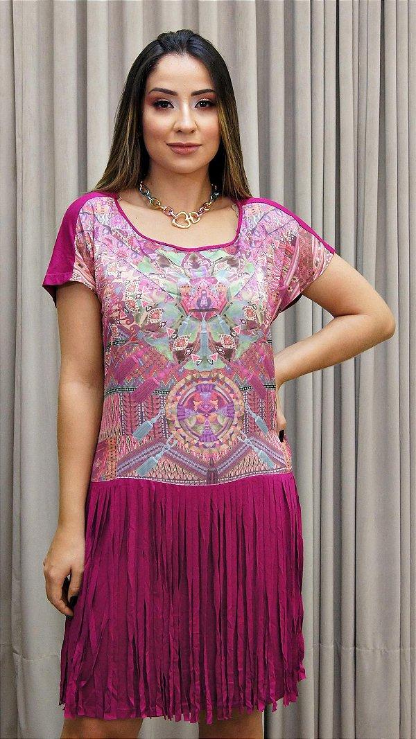 Vestido Franja Étnico Básico