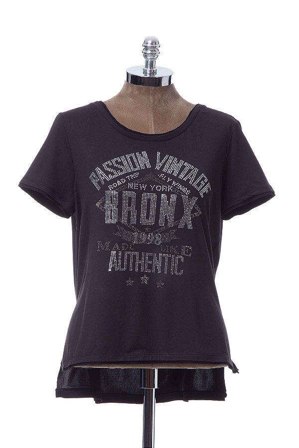 Tshirt Suedinho Preto Authentic Passion